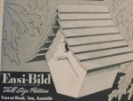 Slatted Roof Wren House Vintage Woodworking Plan