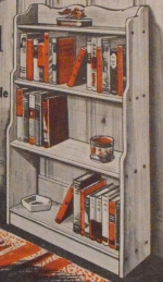 R-EB018 - Montpelier Bookcase Vintage Woodworking Plan