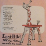 R-EB034 - Joe Giraffe Clothes Tree Vintage Woodworking Plan.