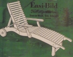 Garden Chaise on Wheels Vintage Woodworking Plan.