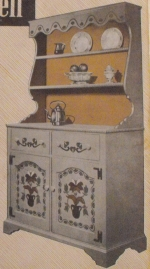 Pennsylvania Dutch Hutch Cabinet Vintage Woodworking Plan