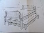 R-FD165 - Trundle Bed Vintage Woodworking Plan.
