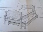Trundle Bed Vintage Woodworking Plan.