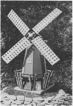 Dutch Windmill Woodworking Plan.