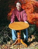 fee plans woodworking resource from WoodworkersWorkshop Online Store - pedestal tables,small round tables,solid wood furniture,advanced skill,full sized patterns,New Yankee Workshop woodworking plans,Norm Abram craftsmanship,projects,recycled paper,woodworkers projects,b