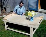 R-NYW0302 - Sheep Shearing Coffee Table Woodworking Plan Featuring Norm Abram
