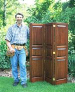 R-NYW0402 - Folding Room Screen Woodworking Plan Featuring Norm Abram