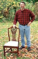 Side Chair Woodworking Plan Featuring Norm Abram, chairs,American-built furntiure,scale sized patterns,New Yankee Workshop woodworking plans,Norm Abram craftsmanship,projects,recycled paper,woodworkers projects,blueprints,drawings,blueprints,how-to-b