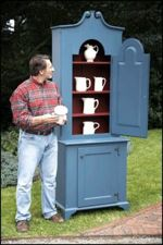 R-NYW0707 - Painted Cupboard Woodworking Plan Featuring Norm Abram