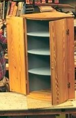 R-NYW5081 - Hanging Corner Cupboard Woodworking Plan Featuring Norm Abram