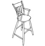 R-NYW6111 - High Chair Woodworking Plan Featuring Norm Abram