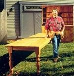 R-NYW8041 - Long Table Woodworking Plan Featuring Norm Abram
