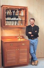 R-NYW9905 - Teak Bar Woodworking Plan Featuring Norm Abram