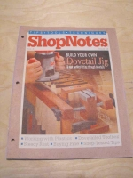 back issue info woodworking resource from WoodworkersWorkshop� Online Store - ShopNotes magazine,dovetail jigs,working with plastics,vintage woodworking plans,old projects,recycled,woodworkers projects,blueprints,drawings,blueprints,how-to-build
