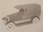 R-TDSCA5 - 1924 Dodge Van Vintage Woodworking Plan