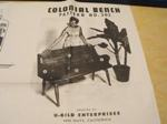 R-UBILD302 - Colonial Bench Vintage Woodworking Plan