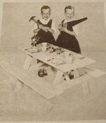 Childrens Picnic Table Vintage Woodworking Plan