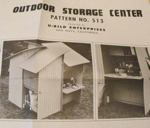 R-UBILD513 - Outdoor Storage Center Vintage Woodworking Plan