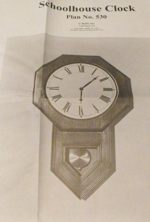Schoolhouse Clock Vintage Woodworking Plan, clocks,wall clocks,schoolhouse clocks,full sized patterns,vintage woodworking plans,old projects,recycled,woodworkers projects,blueprints,drawings,blueprints,how-to-build