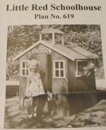 Little Red Schoolhouse Vintage Woodworking Plan