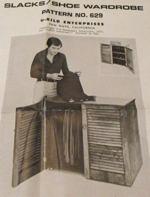 Slacks and Shoe Wardrobe Vintage Woodworking Plan