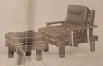R-UBILD640 - Chair and Ottoman Vintage Woodworking Plan