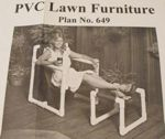 PVC 3 Piece Lawn Furniture Vintage Woodworking Plan, chaise,ottoman,chair,outdoor furniture,PVC,full sized patterns,vintage woodworking plans,old projects,recycled,woodworkers projects,blueprints,drawings,blueprints,how-to-build