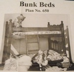 Bunk Beds Vintage Woodworking Plan, bunk beds,childrens,beds,furniture,bedrooms,childs,kids,full sized patterns,vintage woodworking plans,old projects,recycled,woodworkers projects,blueprints,drawings,blueprints,how-to-build