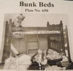 Bunk Beds Vintage Woodworking Plan