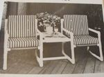 fee plans woodworking resource from WoodworkersWorkshop Online Store - two seater,chairs,outdoors,pvc,furniture,full sized patterns,vintage woodworking plans,old projects,recycled,woodworkers projects,blueprints,drawings,blueprints,how-to-build