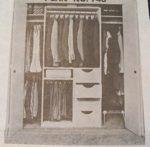 Closet Organizer Vintage Woodworking Plan