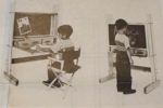Chalkboard Desk Combination Vintage Woodworking Plan