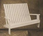 R-UBILD805 - Adirondack Loveseat Vintage Woodworking Plan