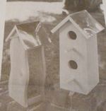 R-UBILD931 - Cedar Birdhouse and Bird Feeder Vintage Woodworking Plan