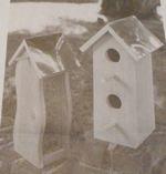 Cedar Birdhouse and Bird Feeder Vintage Woodworking Plan