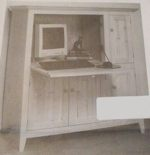 Computer Secretary Desk Vintage Woodworking Plan
