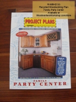 Family Party Center Vintage Woodworking Plan, entertinament centers,built-ins,furniture,full sized patterns,vintage woodworking plans,old projects,recycled,woodworkers projects,blueprints,drawings,blueprints,how-to-build
