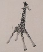 R14-0110 - Giraffe Clothes Tree Vintage Woodworking Plan.