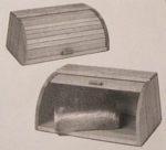 Rolltop Tambour Bread Box Vintage Woodworking Plan
