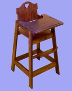 R14-1128 - High Chair VintageWoodworking Plan.