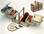 R14-1180 - Sewing Chest Tote Box Vintage Woodworking Plan.
