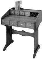 Trestle Desk Vintage Woodworking Plan.