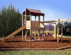 R14-1308 - Outdoors Play Gym Vintage Woodworking Plan.