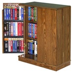 R14-1327 - VCR Video Cassette Storage Cabinet Vintage Woodworking Plan