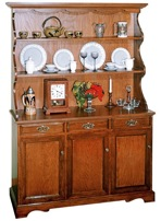 R14-1352 - China Hutch Cabinet Vintage Woodworking Plan