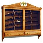 Wall Mounted Gun Cabinet Vintage Woodworking Plan.