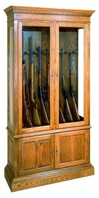 R14-1413 - Gun Cabinet Vintage Woodworking Plan.