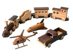 R14-1463 - Wooden Toys Vintage Woodworking Plan Set all 4 designs included.