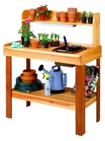 R14-1578 - Potting Bench Vintage Woodworking Plan