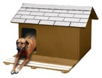 R14-1582 - Insulated Dog House with deck Vintage Woodworking Plan